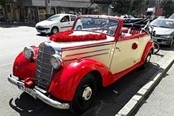 ماشین عروس کلاسیک بنز
