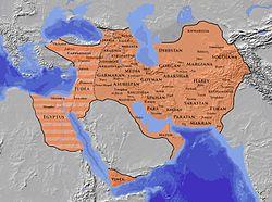 Sassanid empire map