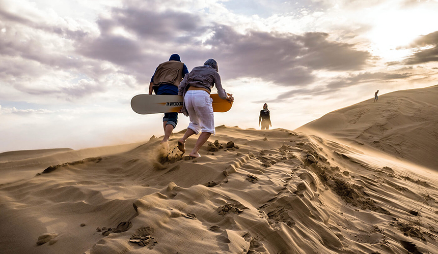 Sand riding in Varzaneh