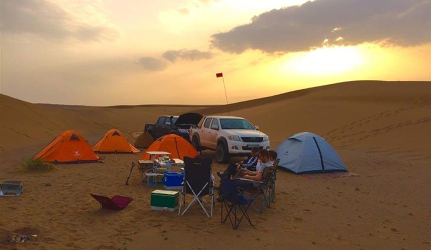 camping in mesr desert