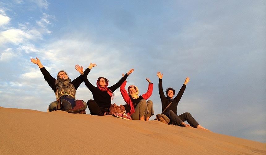 Tourists in Mesr desert