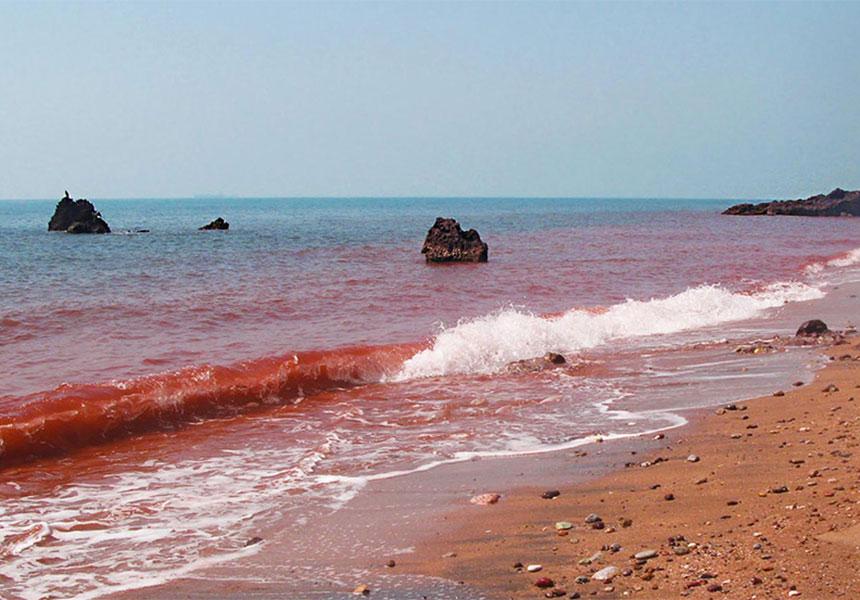 Hormuz beach in Iran