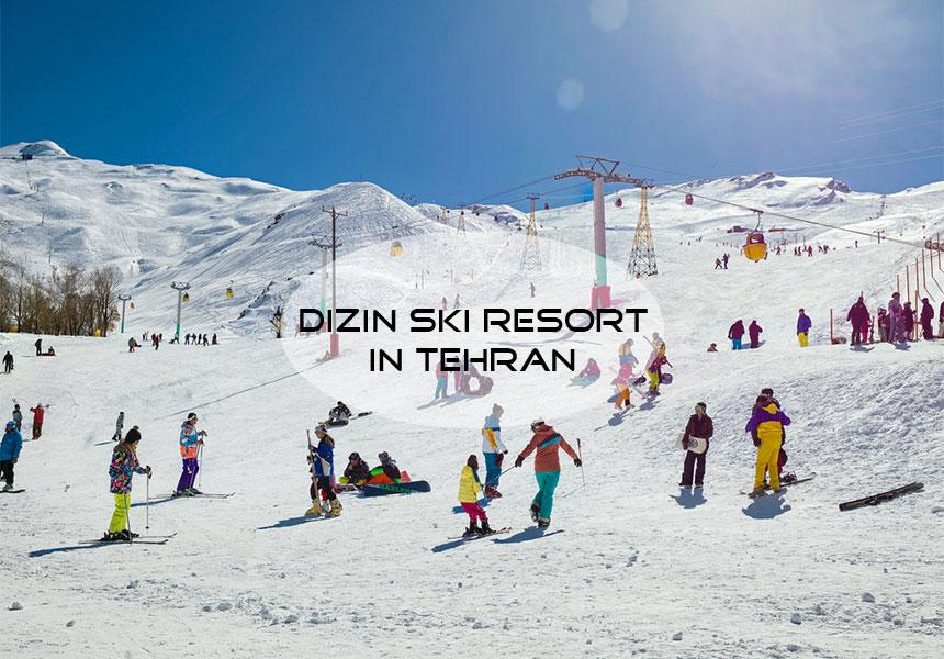 Dizin ski resort; one of the best ski resorts in Iran