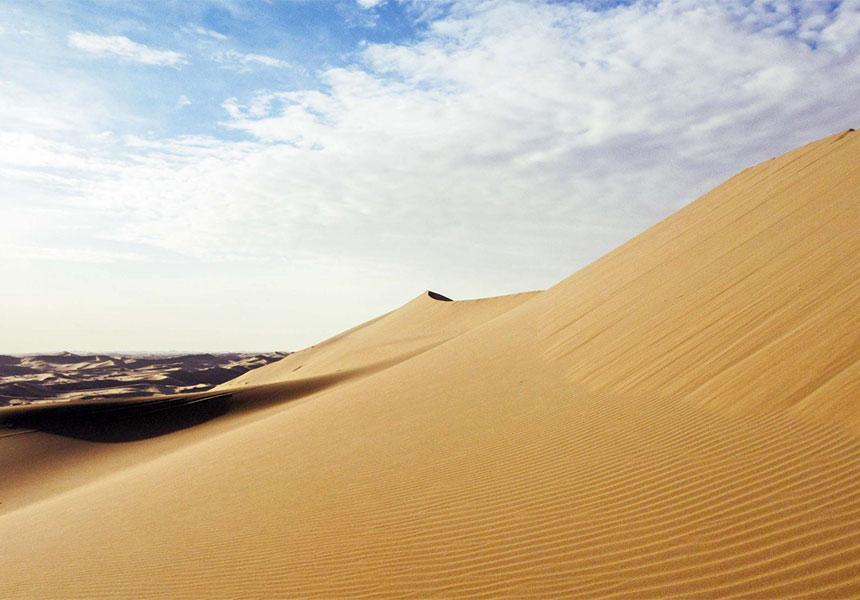 Varzaneh desert in Iran