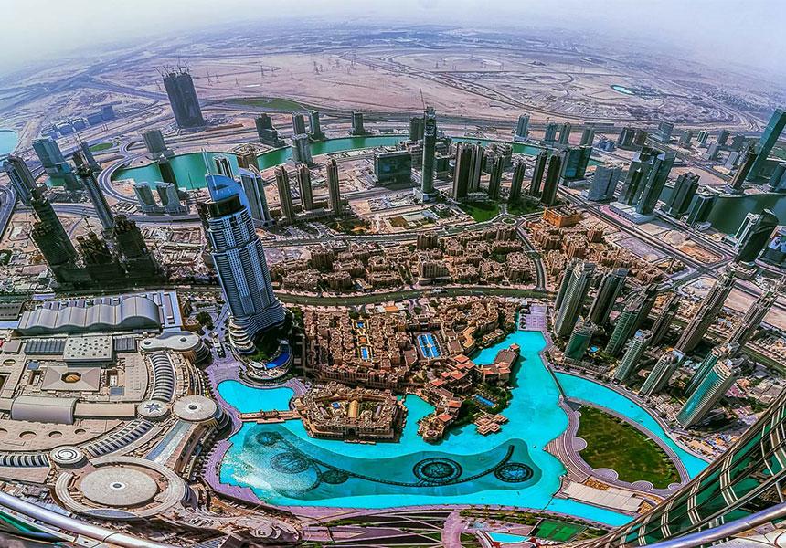 skyview of dubai buildings, by saadat car rental in dubai