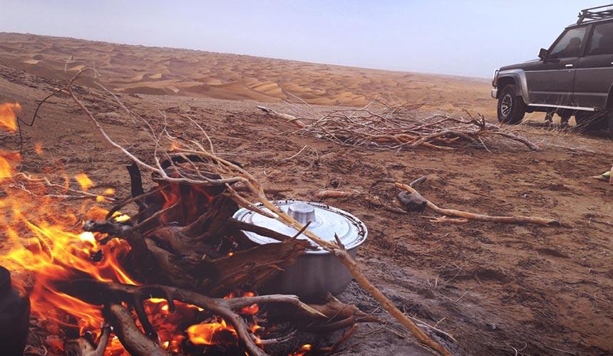 Iran tour in desert