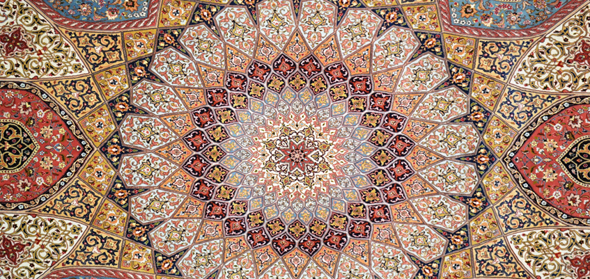 Persian carpet; a mysterious painting