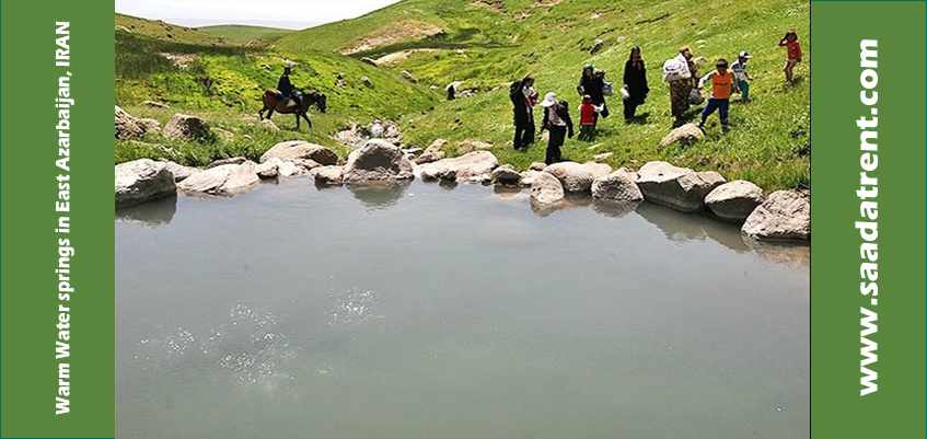 hot Water springs in East Azerbaijan province in Iran