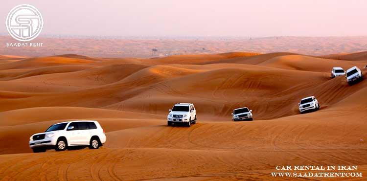 اجاره خودرو برای تور کویر گردی در ایران