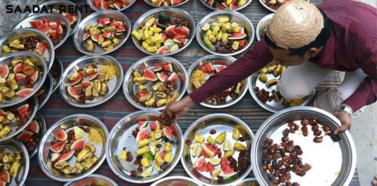 سفره های افطار ماه رمضان، با غذاهای آسیایی